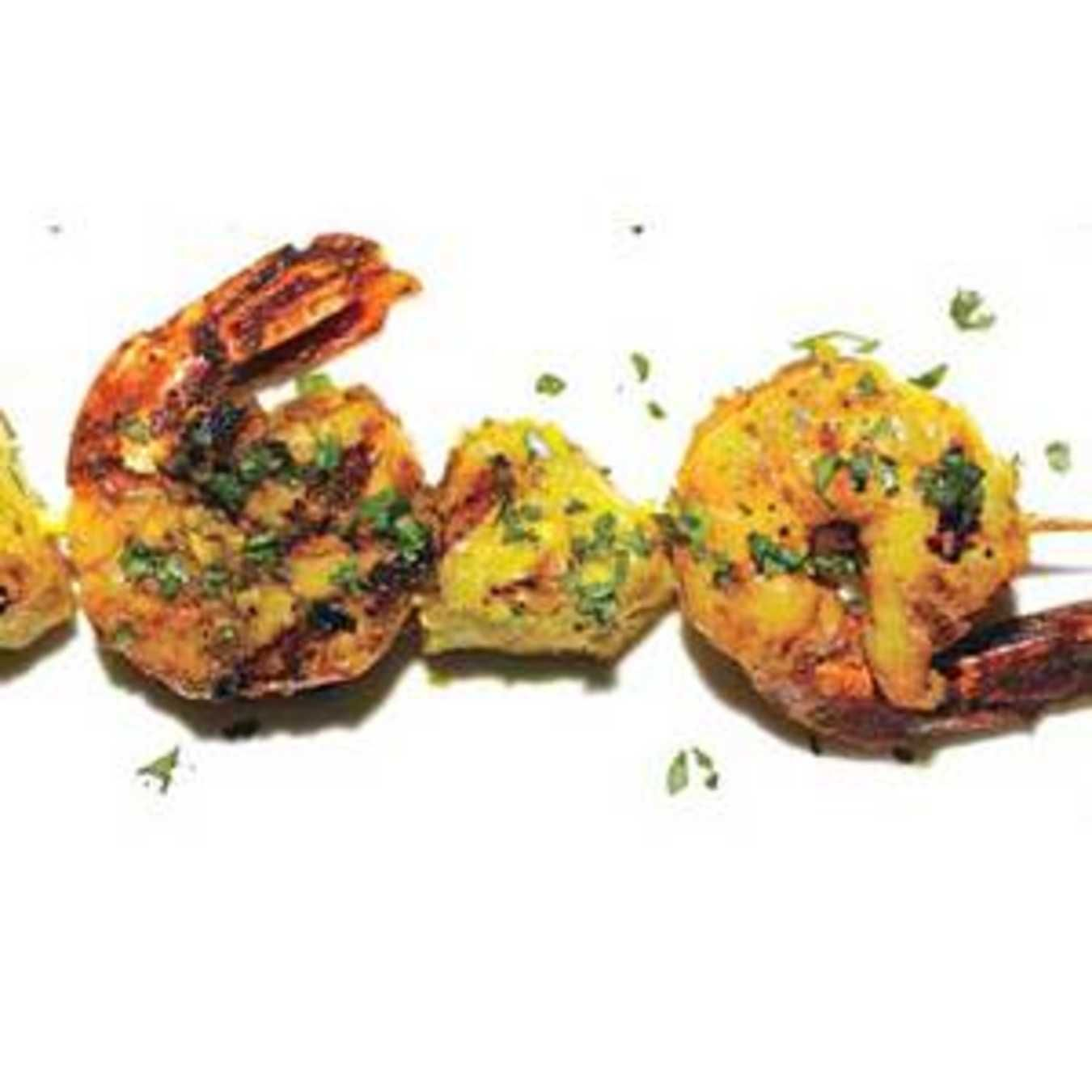 Curried Shrimp with Pineapple.