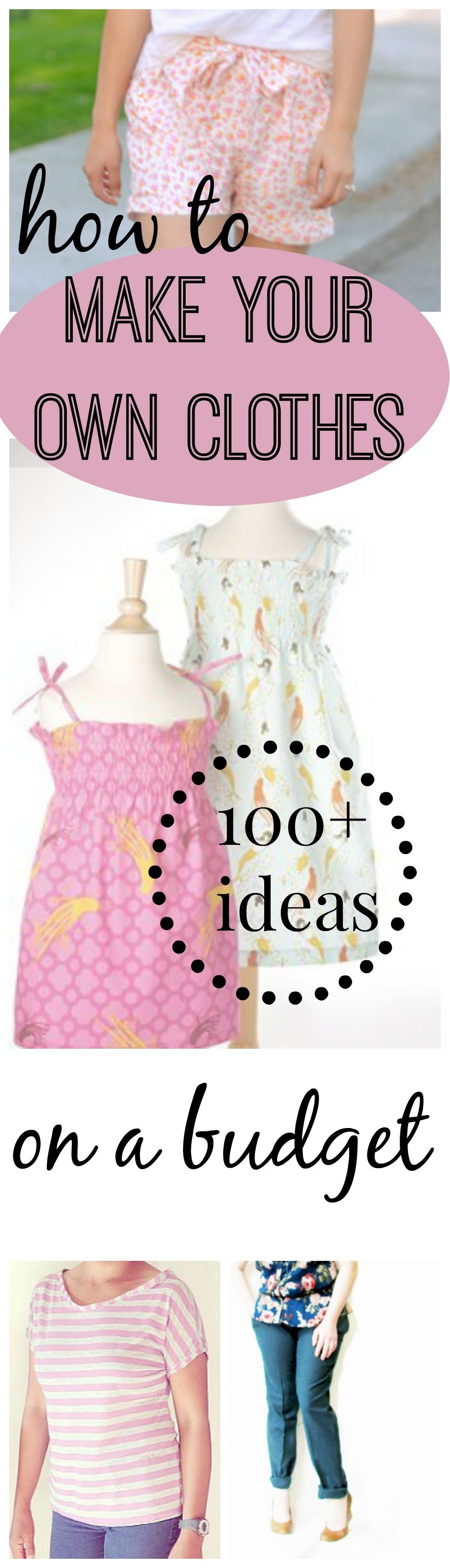7816b989458dd 173 How to Sew Clothes Ideas: Tips for Making Your Own Clothes on the Cheap    AllFreeSewing.com