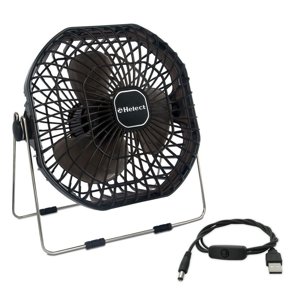 Ventilatore Mini Con Usb Portatile E Silenzioso Nero Helect Desk