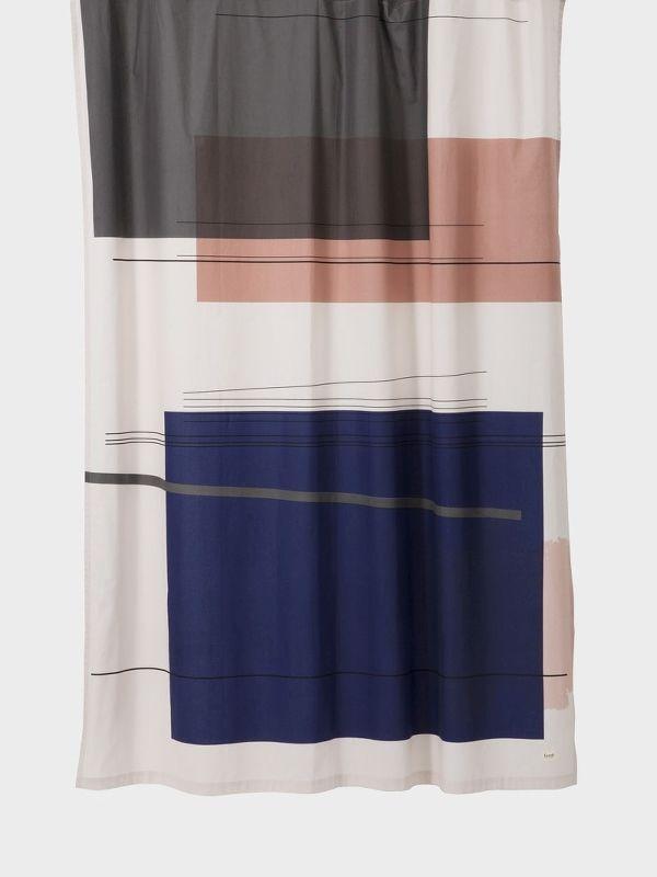 Colour Block Shower Curtain 1 Cool Shower Curtains Designer