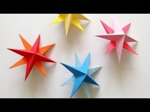Birthday Party Decorations At Home Simple DIY Hanging Paper 3d Star Tutorial For Christmas Birthda
