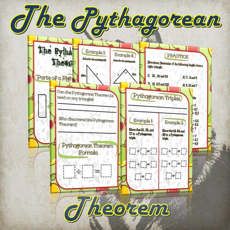 The Pythagorean Theorem (Guided Notes and Practice