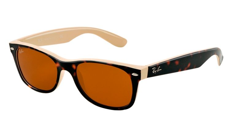 985a3f0518098 Ray-Ban RB 2132 6012 New Wayfarer Sunglasses - Tortoise and Beige ...
