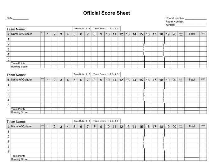 5 Basketball Score Sheet Templates Word Excel Templates Excel Templates Scores Sheet