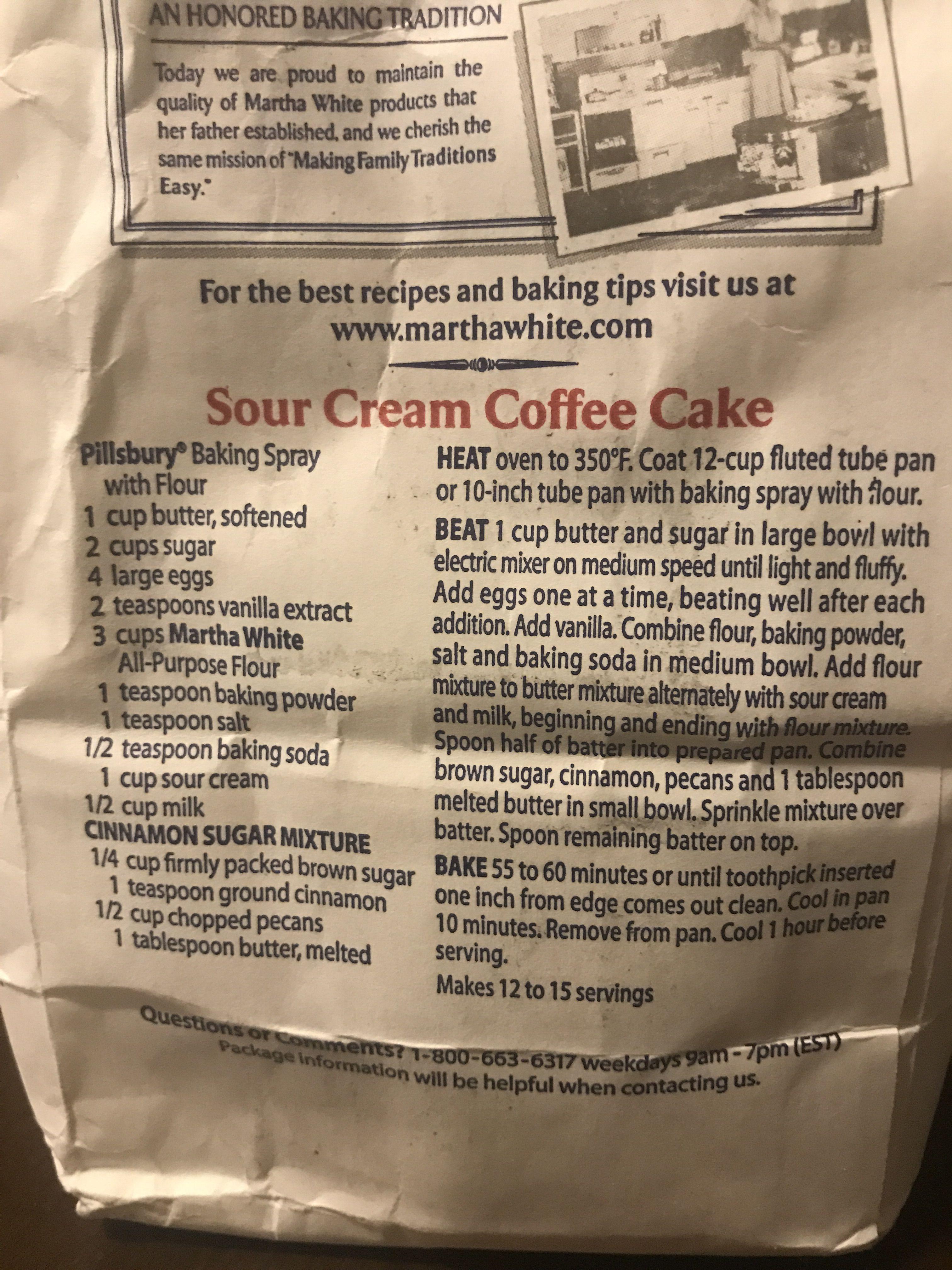 Sour Cream Coffee Cake Sour Cream Coffee Cake Coffee Cake Pillsbury Baking