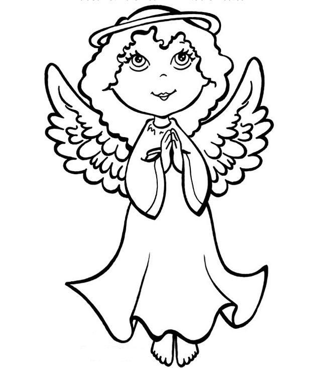 Transmissionpress Free Printable Christmas Angel Colouring Pages