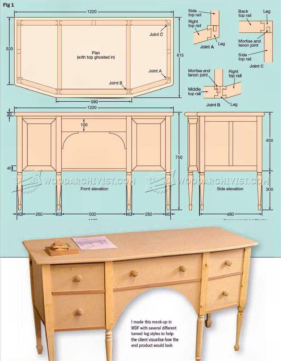 perfect dressing table plans furniture plans with plan de. Black Bedroom Furniture Sets. Home Design Ideas