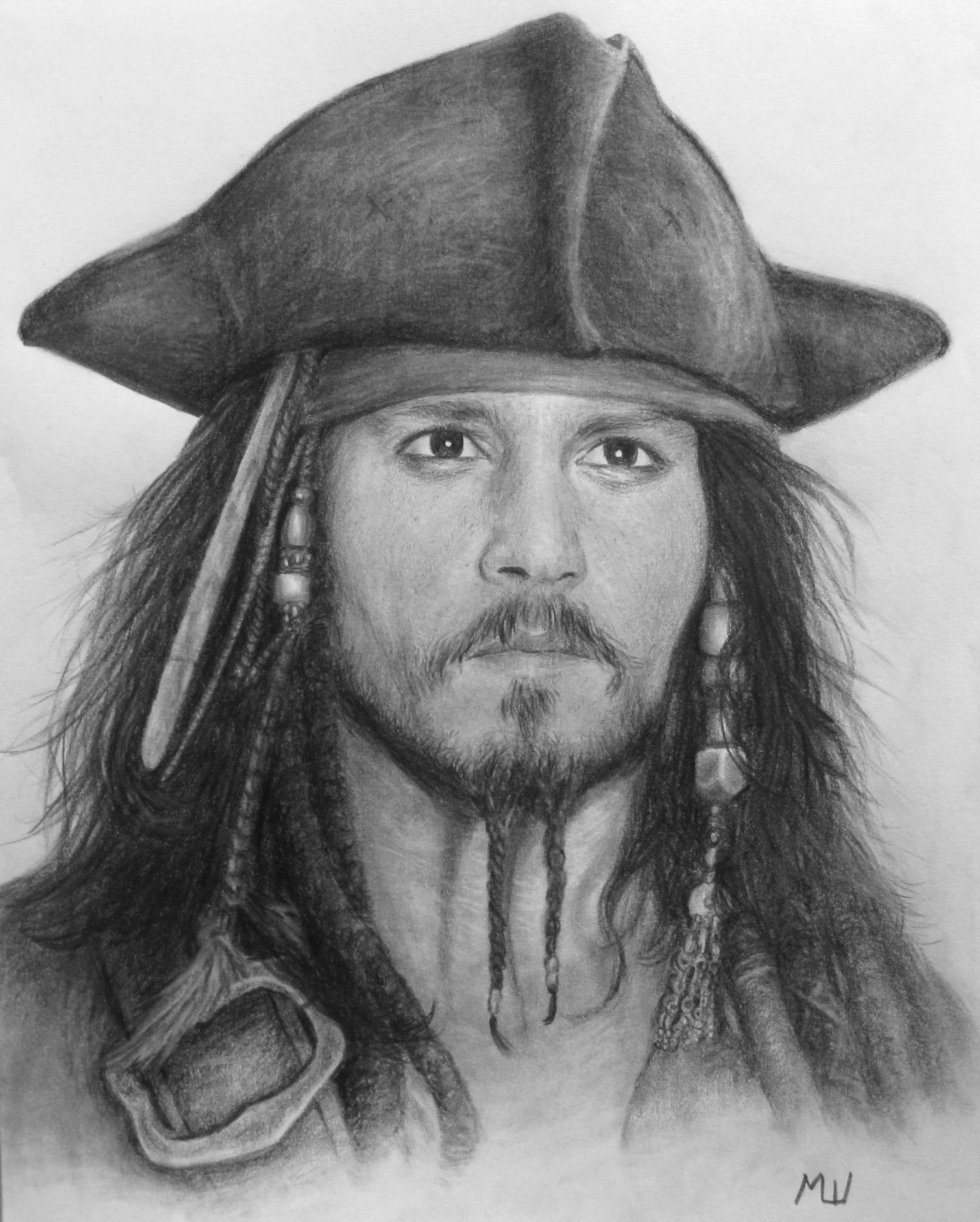 Pencil Drawing Of Johnny Depp Captain Jack Sparrow Se Drawings