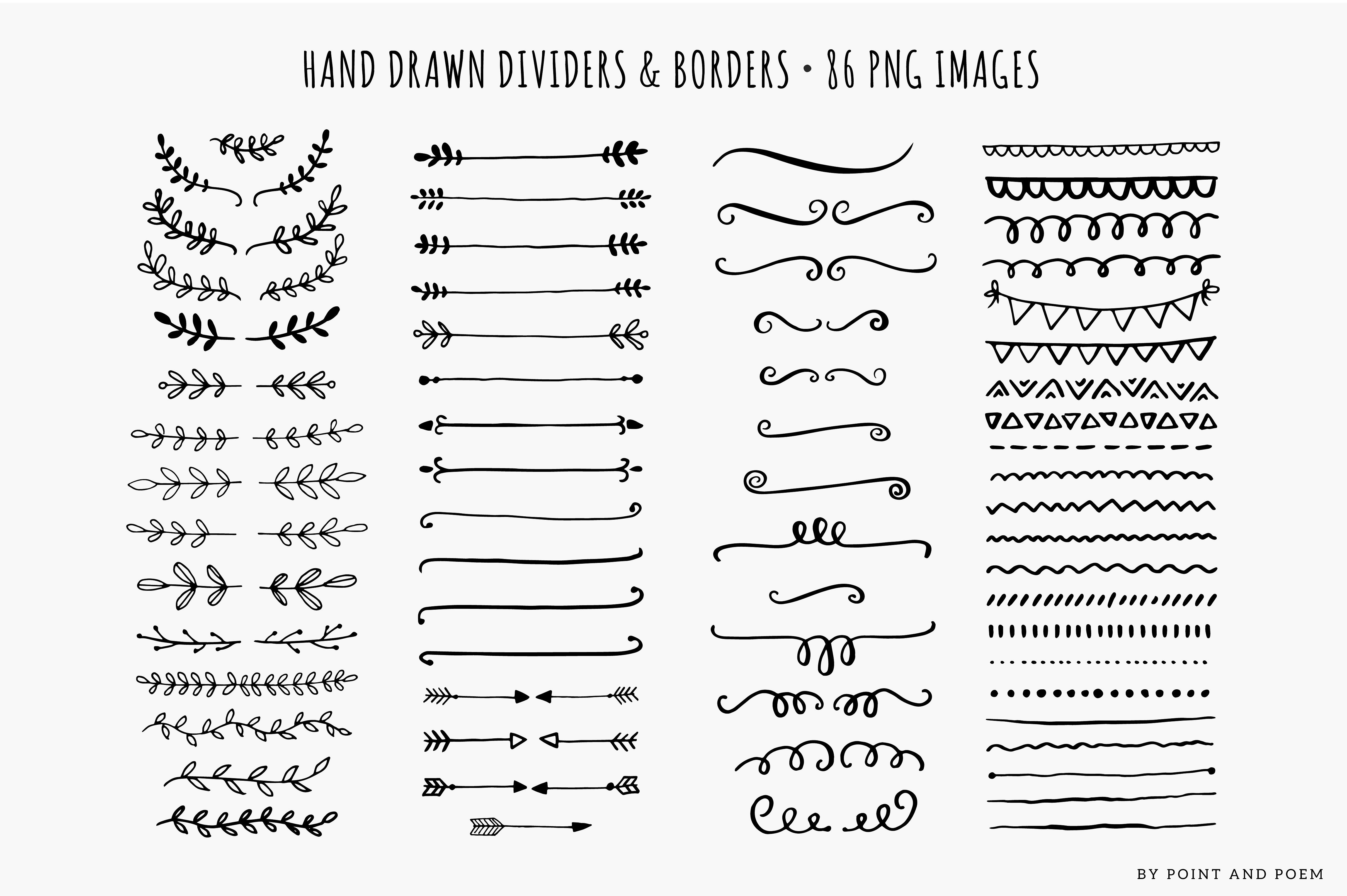 Hand Drawn Dividers Laurels Amp Arrows How To Draw Hands