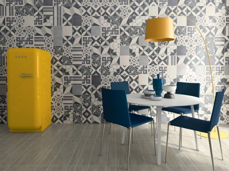 Idées Déco Avec Des Motifs Carreaux De Ciment Carrelage De - Carrelage pour mur cuisine pour idees de deco de cuisine