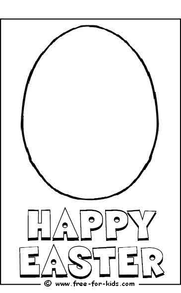 Blank Egg Colouring Picture