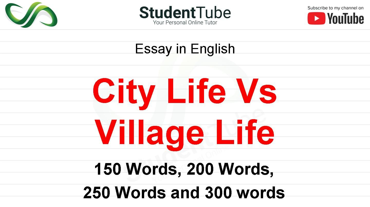 Difference between village and city essay esl masters essay on shakespeare