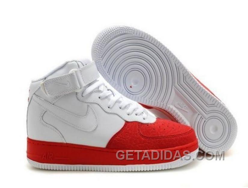 Nike Air Force 1 Blanco Mediados De Tenis Barato