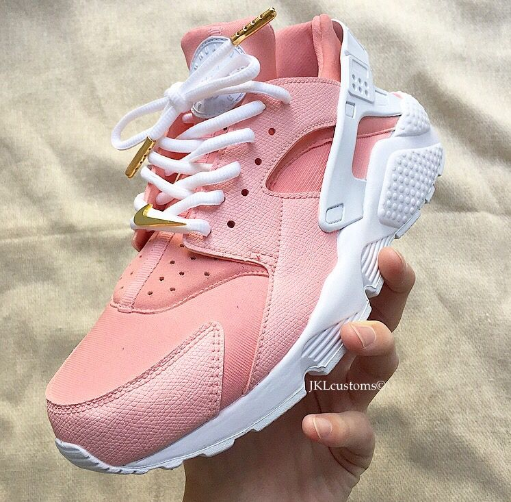 save off bba5e bef48 ROSE blush Nike Huarache customs