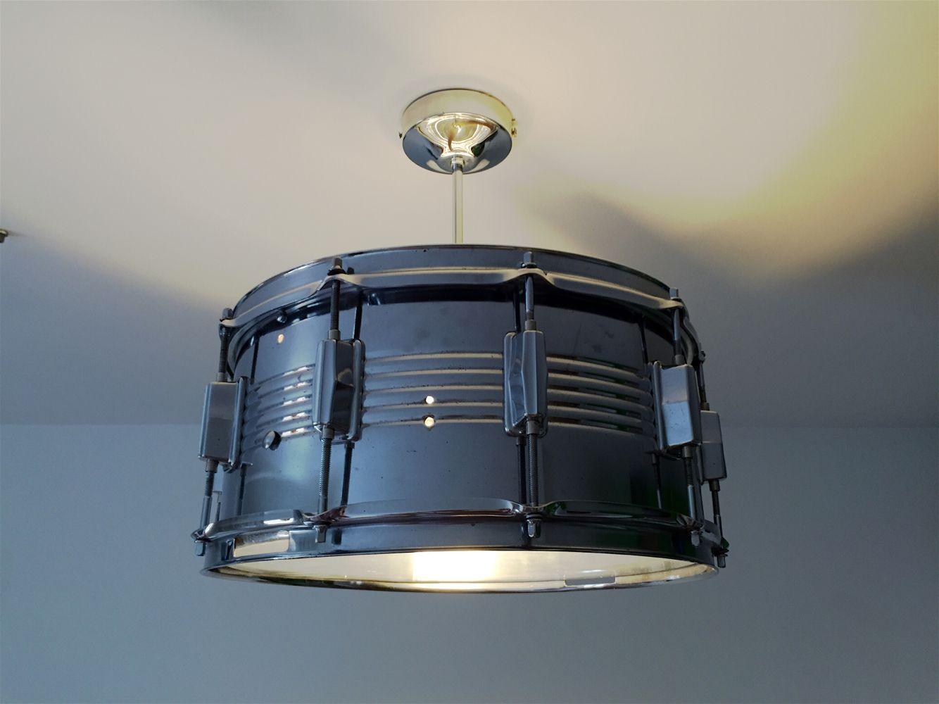 vintage snare drum ceiling light repurpose ceiling lights lighting ceiling. Black Bedroom Furniture Sets. Home Design Ideas