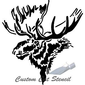 Glass Etching Google Search Animal Stencil Moose Quilt Stencils
