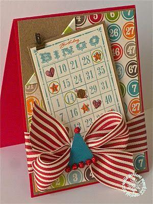 Bingo Birthday Card More Deets At Httpnoelle Paperandice