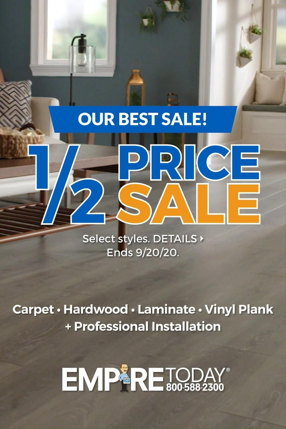 Don T Miss Our Biggest Sale Get 1 2 Price On Select Styles Of Hardwood Vinyl Plank Laminate Carp In 2020 Vinyl Plank House And Home Magazine Brick Exterior House