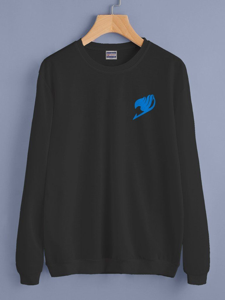 89de7ebf Fairy Tail symbol Blue Pocket Crewneck Sweatshirt Adult – Meh. Geek