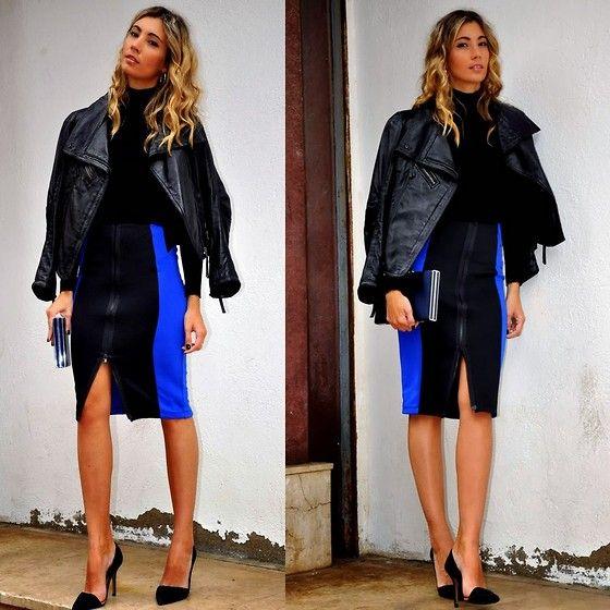 Skirt, Zara Clutch
