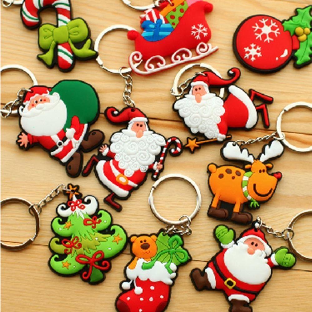 New Xmas Christmas Tree Keyring Santa Claus Keychain