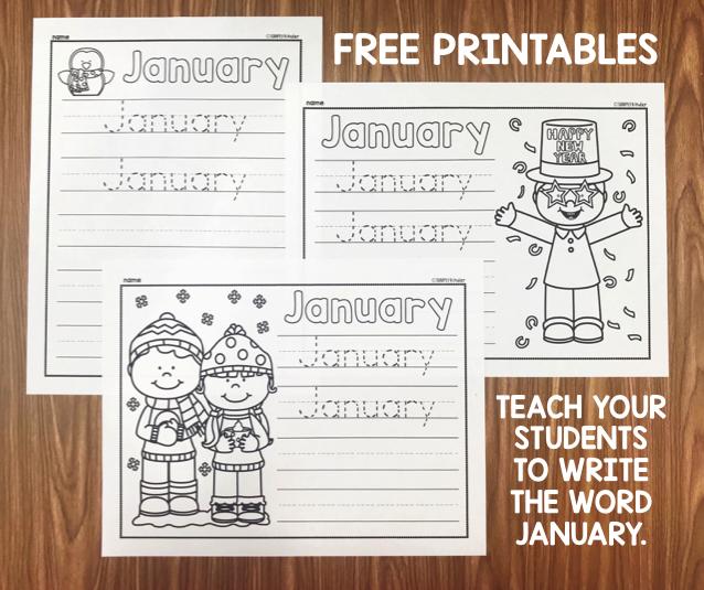 January Writing Printables | Kinder writing, Simply kinder ...
