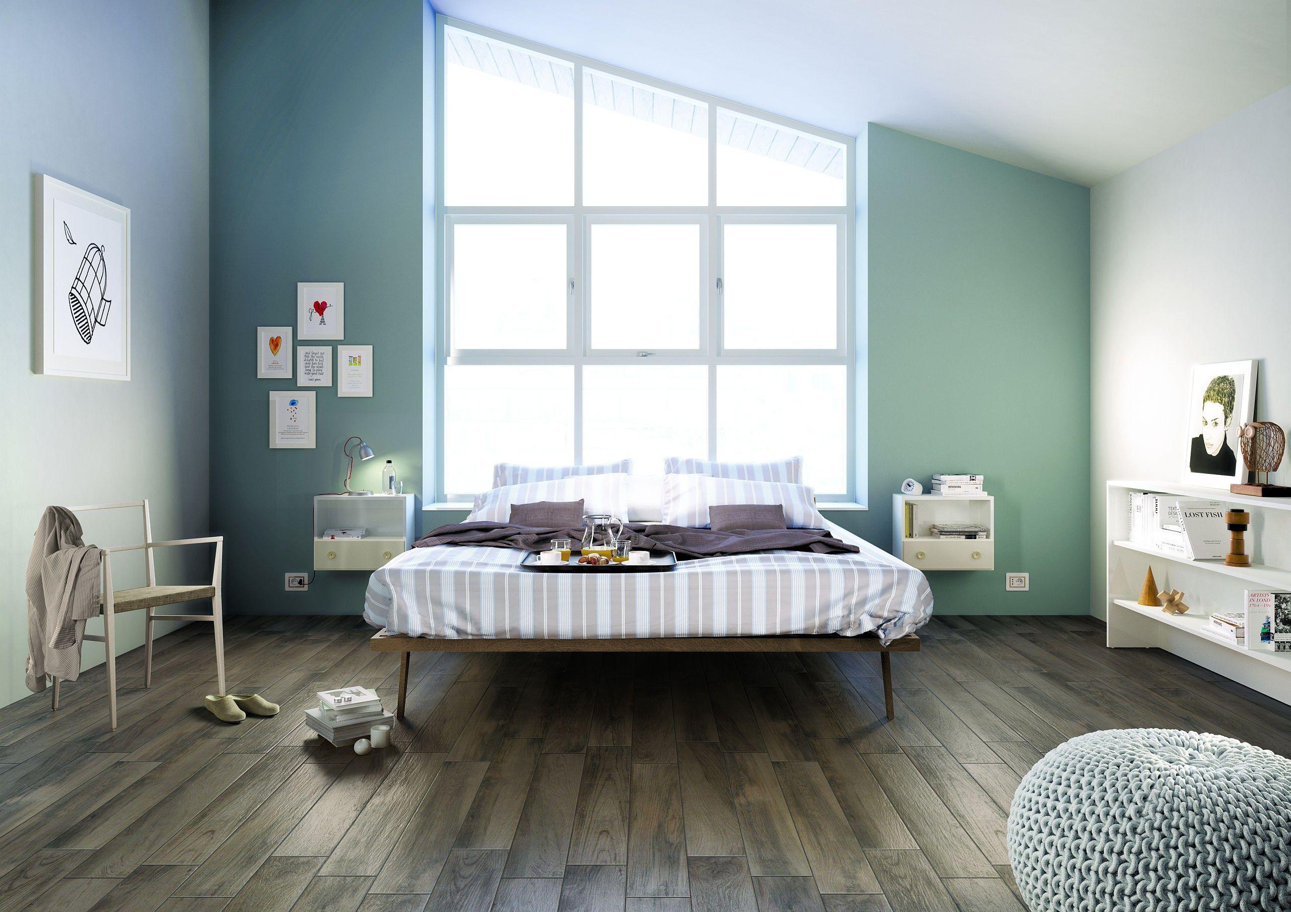 床材 TREVERKHOME by MARAZZI 木目調タイル、自宅で、フローリング