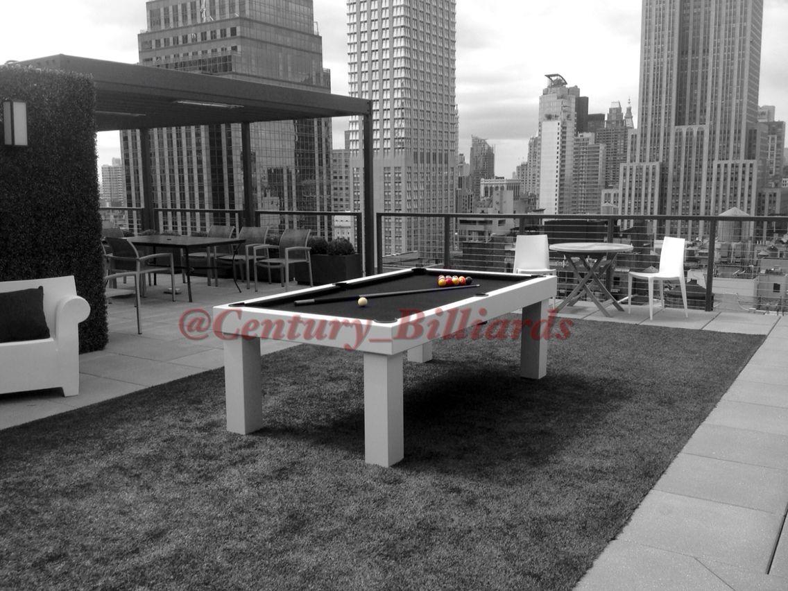 Custom Waterproof Design On NYC Rooftop All Weather Outdoor Pool - Pool table nyc