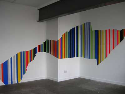30 fotos e ideas para decorar y pintar las paredes a rayas. | Rayas ...
