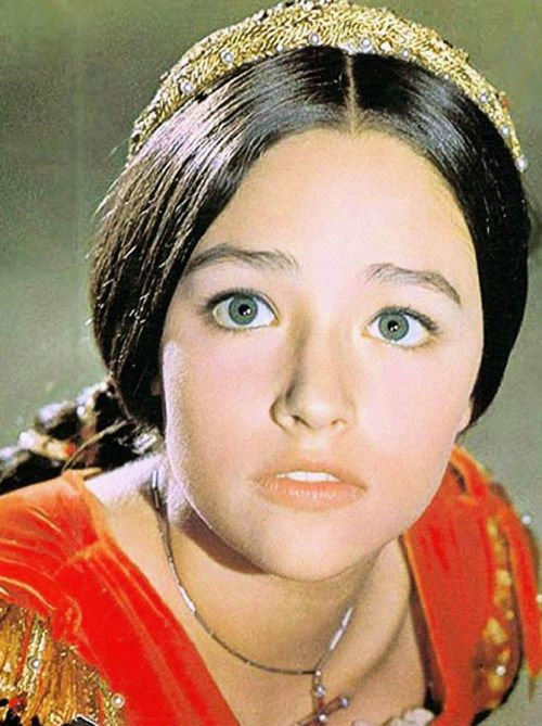 "Olivia Hussey in Romeo & Juliet (1968, dir. Franco Zeffirelli) ""[At the first audition, Franco Zeffirelli] came into the dressing room and he walked past all the girls, and there were a lot of girls who were sharing the same white dress. You know, we..."