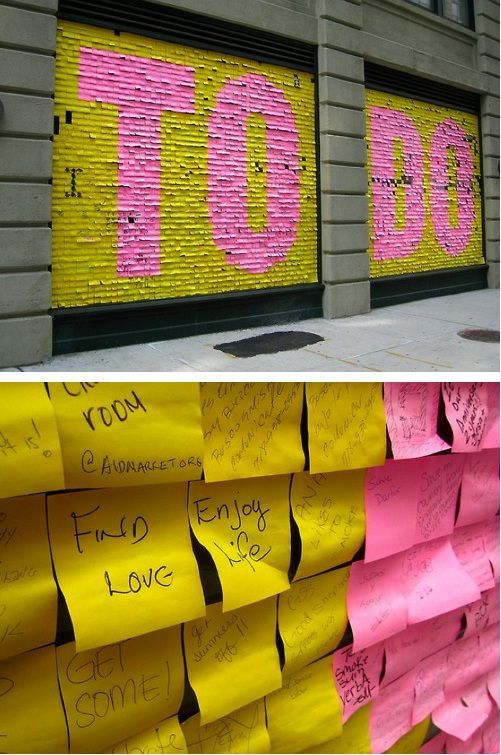 Post-It note NYC installation