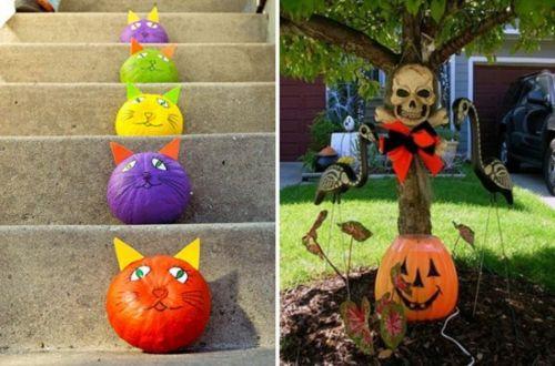 außenbereich deko halloween ideen selber machen diy bunt katzen, Garten Ideen