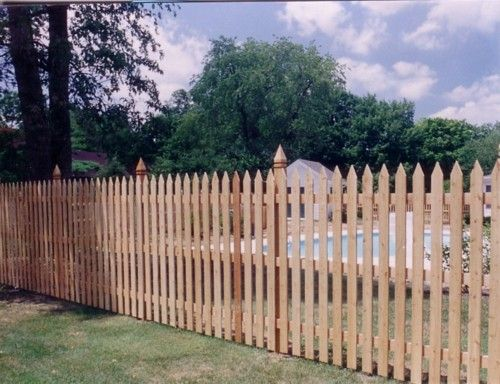 6ft Picket Fence Wood Picket Fence Picket Fence Garden Gates And Fencing