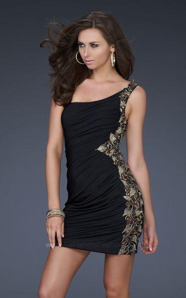 Modelos de vestidos de noche cortos 2012