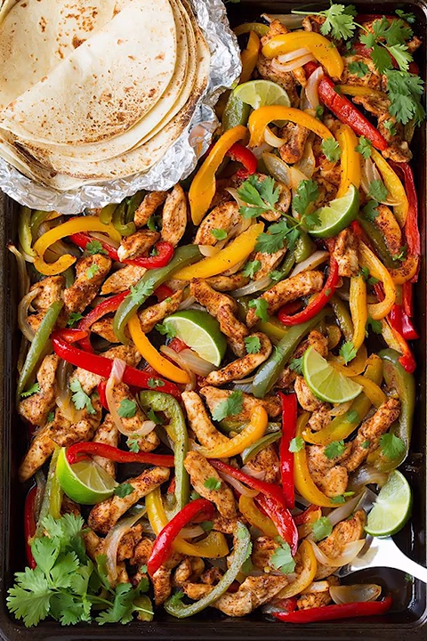 Best Ever Flavorful Chicken Fajitas #kochenundbacken