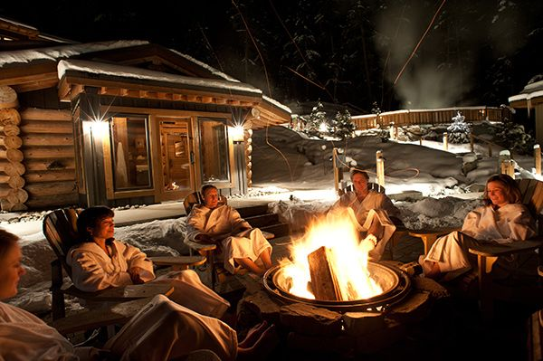 Whistler Bc Canada Scandinave Spa Tourism Whistler Cool Fire