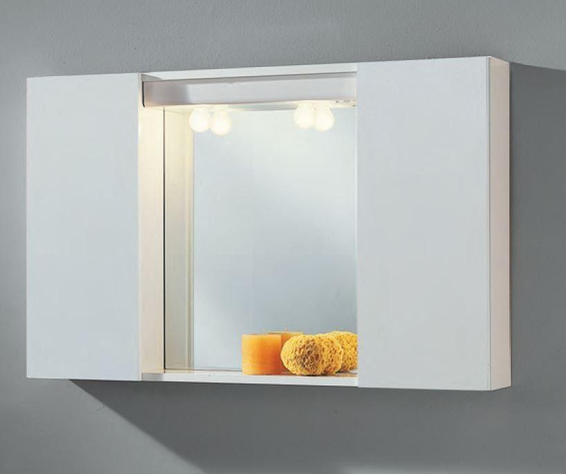 Specchio Bagno Con Ante.Specchio Bagno Con 2 Ante Bianche Specchi Bagno Arredamento