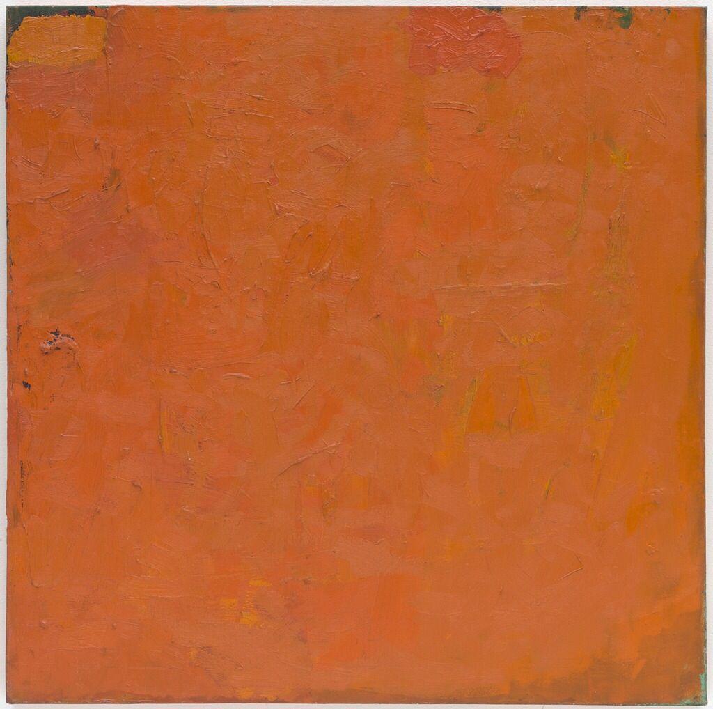 Orange Painting, 1955 - Robert Ryman