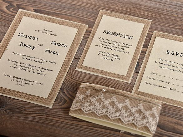 25+ Rustic Wedding Invitation Templates u2013 Free Sample, Example - invitation templates for free
