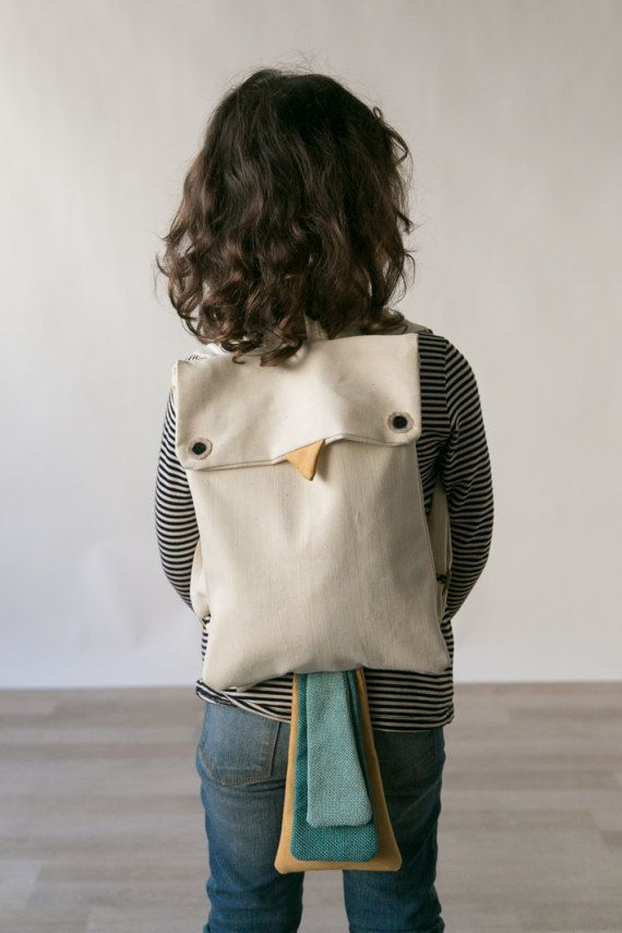 Bird Backpack, Animal Backpack, Children Backpack, Cute Backpack, Mini Backpack, Playful Backpack, Kids canvas bag, bird bag, kids Backpack #shadesofwhite