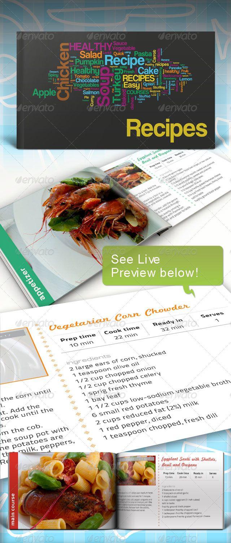 Recipe Book Informational Brochures Recipe Book Templates
