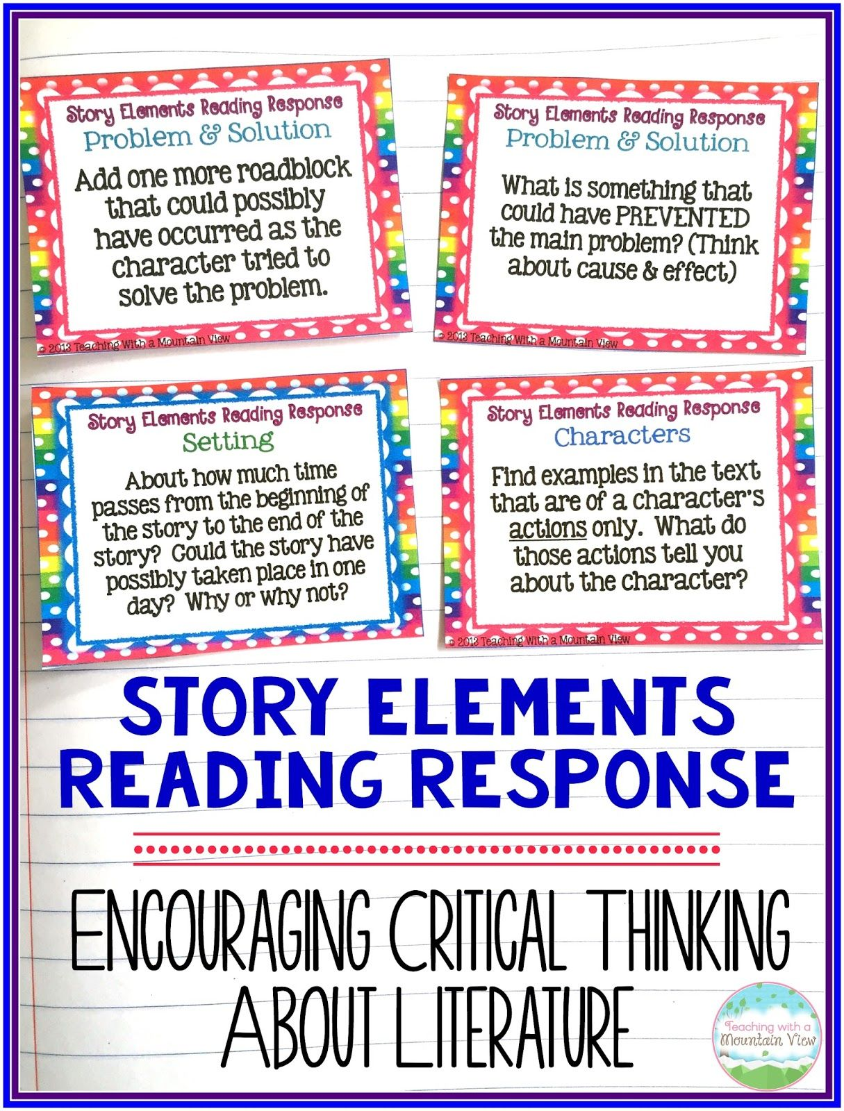 Teaching Story Elements Amp A Wonder Freebie