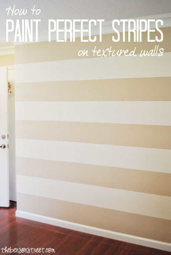 How To Paint Perfect Stripes On A Textured Wall Striped Accent