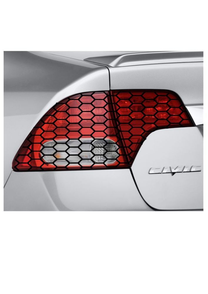 Civic 8th Gen Civic Tail Light Wrap Honeycomb Pattern