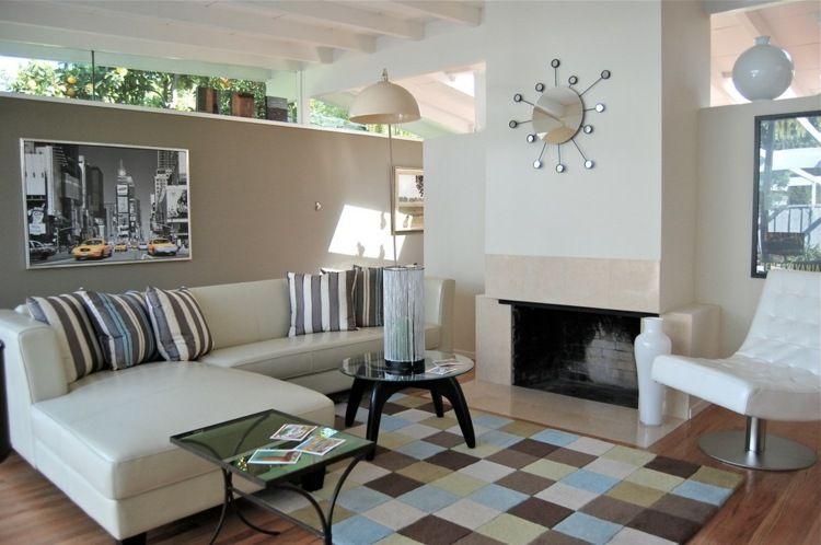 Wohnzimmer gestalten - die Wände in Naturnuancen streichen