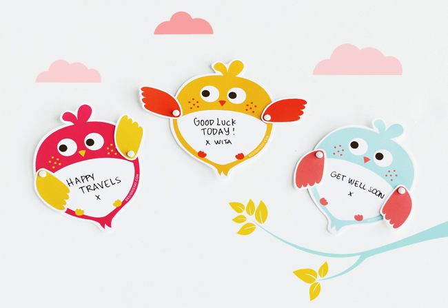 Printable Happy Owl Note Card Create this animated happy owl note