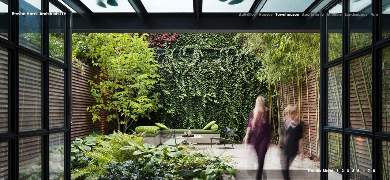 Living wall courtyard; Steven Harris Architects | Landscape - Design ...