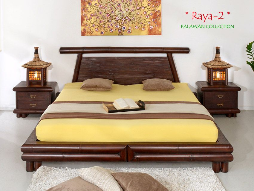 RAYA2 Designer Bambusbett 200x220 AFRICA COLLECTION