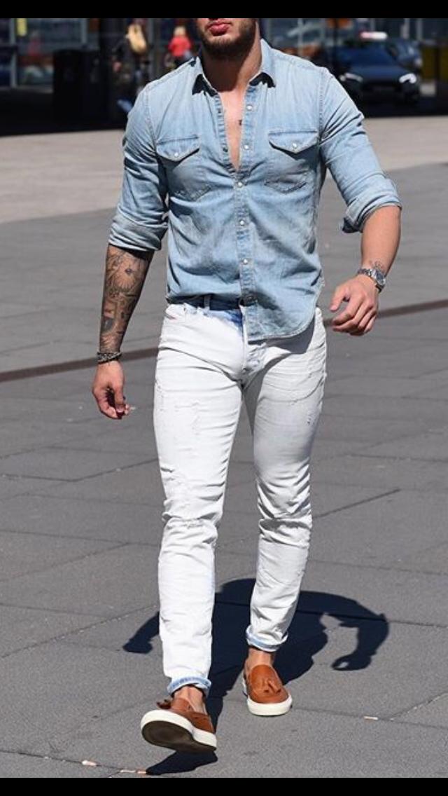 7 Amazing Street Style Looks For Men | Denim shirt men