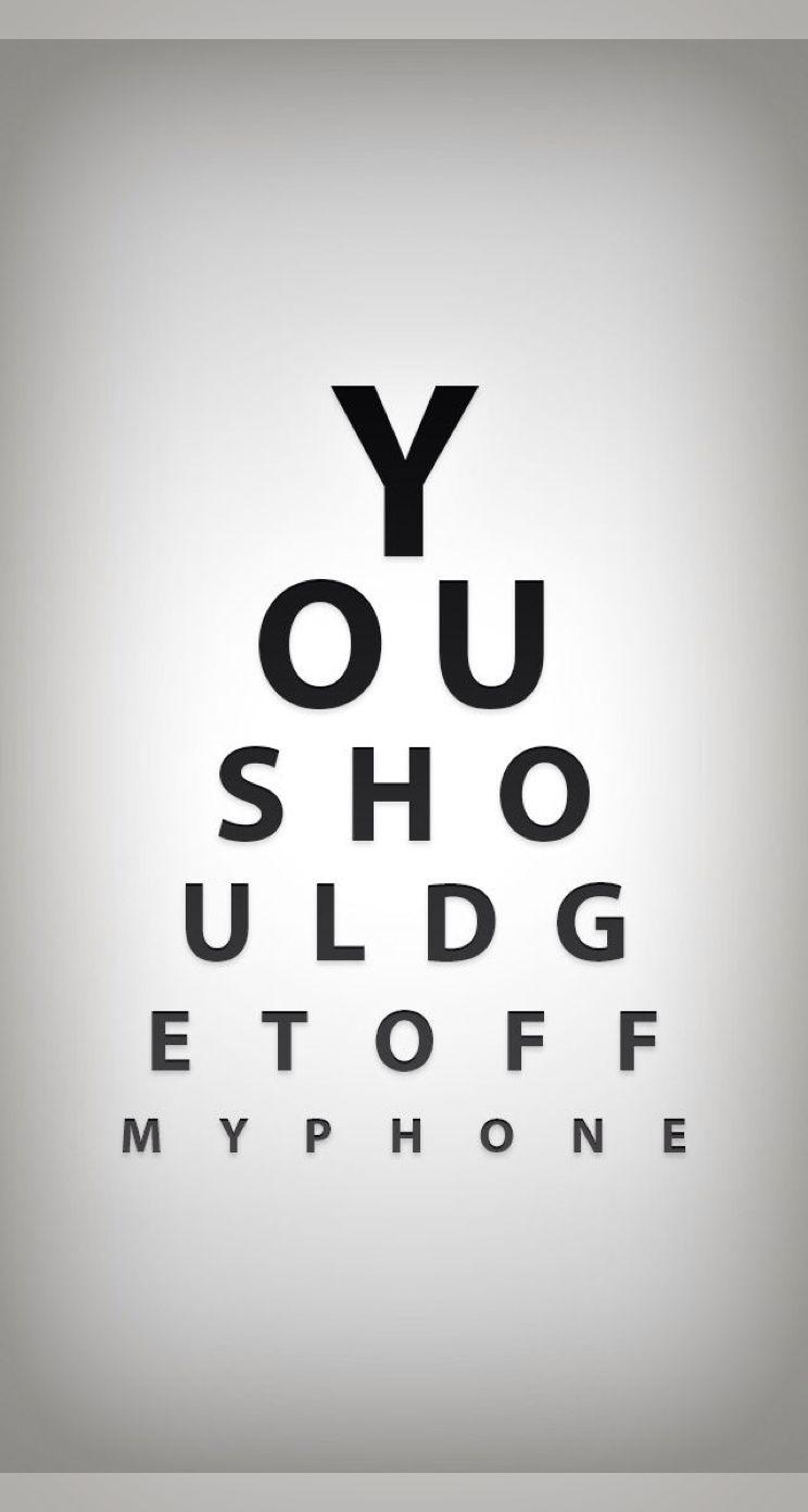 Eye Chart Funny Phone Wallpaper Funny Iphone Wallpaper Ipad